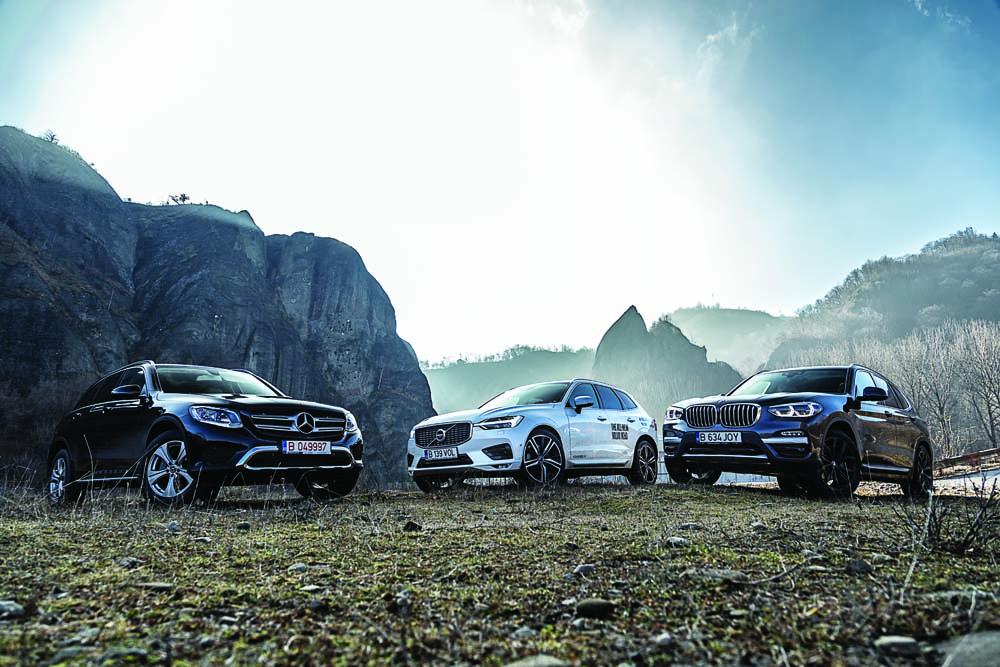 Test comparativ: BMW X3, Mercedes GLC și Volvo XC60