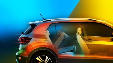 Volkswagen T-Cross – Teaser care arată că micul SUV e practic