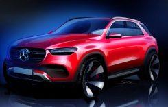 Viitorul Mercedes-Benz GLE apare într-o schiță relevantă