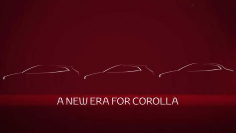 Noua Toyota Corolla sedan e pe drum. Primul teaser