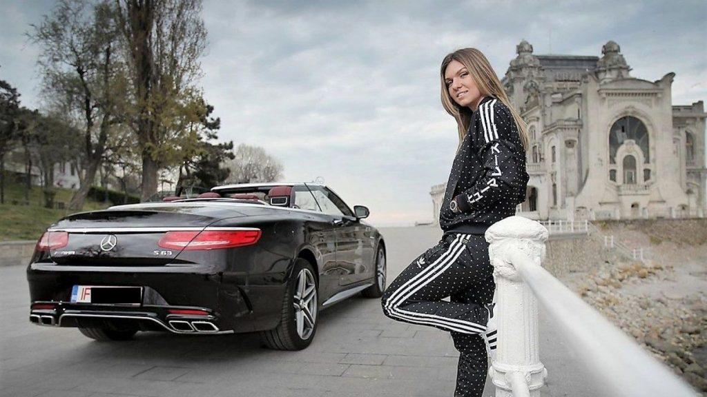 Simona Halep Mercedes S 63 Cabrio 3