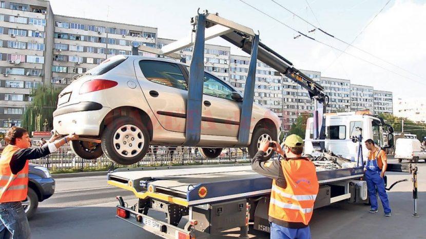 mașinile parcate neregulamentar