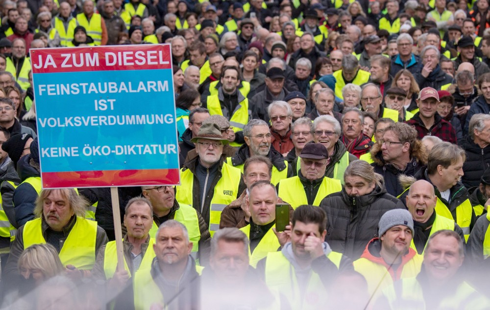 Mașinile diesel proteste Germania