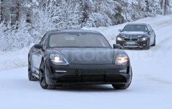 Spionaj: Porsche Taycan în teste pe zăpadă