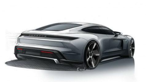 Apar schițe noi cu supercar-ul electric Porsche Taycan