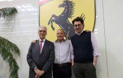 Jody Scheckter în vizită la Ferrari