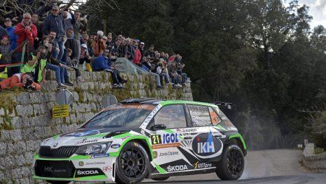 SKODA obţine dubla în WRC 2 în Tour de Corse