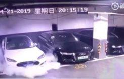 Anchetă la Tesla! Model S ia foc din senin într-un garaj