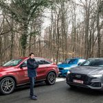 test comparativ Audi Q8 BMW X6 Mercedes GLE Coupe
