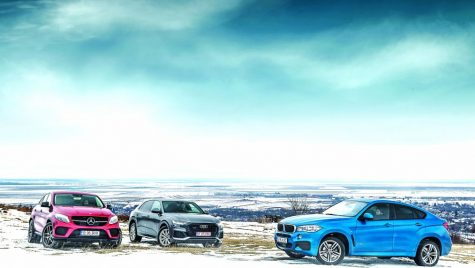 Test comparativ Audi Q8, BMW X6, Mercedes GLE Coupe