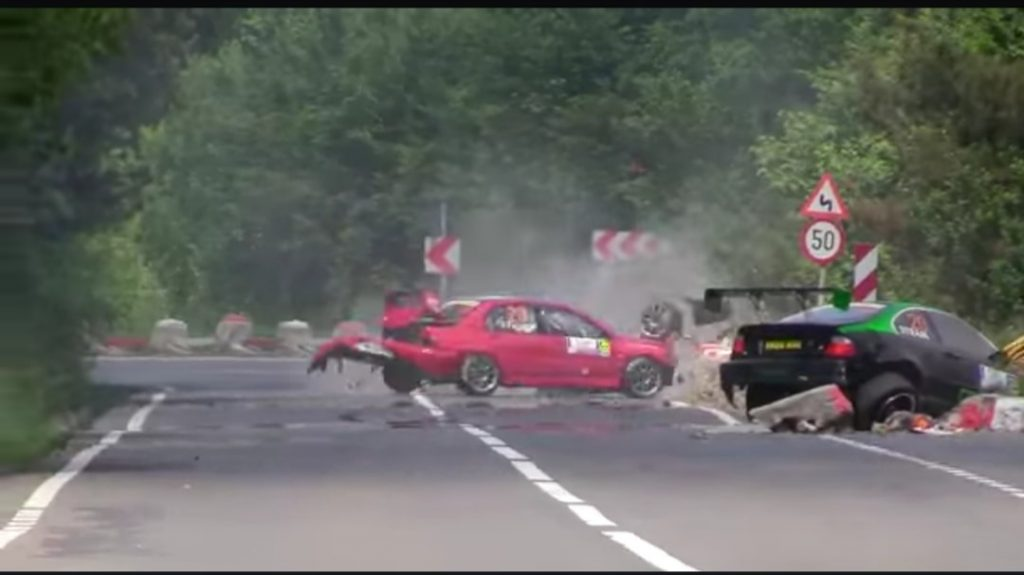 Accident raliu