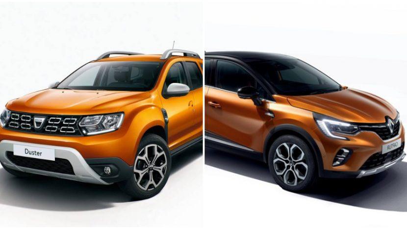 Renault Captur si Dacia Duster