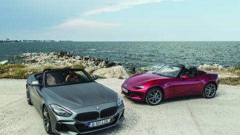 Plăcere maximă: BMW Z4 M40i vs Mazda MX-5