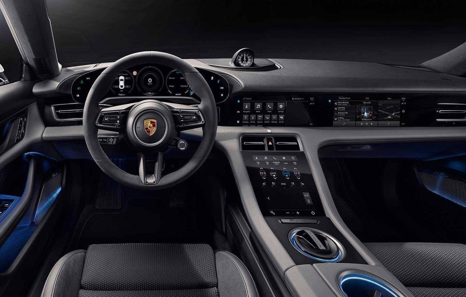 Porsche Taycan interior (1)