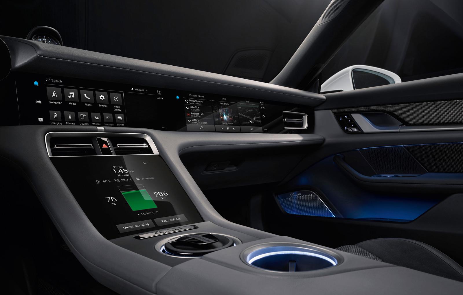 Porsche Taycan interior (3)