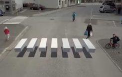 Primele treceri de pietoni 3D din Capitală. Unde se află?