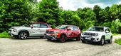 Test comparativ Citroen C3 Aircross, Jeep Renegade, VW T-Cross
