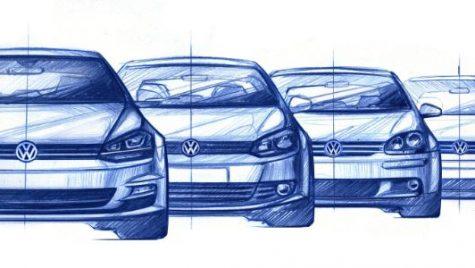 Viitorul Volkswagen Golf apare într-o schiță oficială