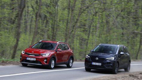 Test comparativ Kia Stonic 1.6 DSL vs Opel Crossland X 1.5 D: Caractere diferite