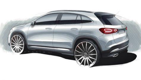 Prima schiță oficială cu noul Mercedes-Benz GLA