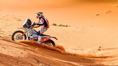 Românul Emanuel Gyenes a terminat raliul Dakar pe primul loc la categoria Malle Moto