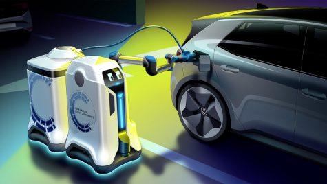 Volkswagen a prezentat conceptul unui robot pentru încărcarea automobilelor electrice