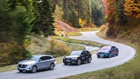 Test video Audi E-tron Quattro, Jaguar I-Pace, Mercedes-Benz EQC