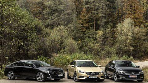 Test comparativ Opel Insignia Grand Sport, Peugeot 508, VW Passat: menage a trois