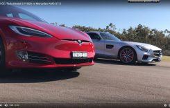 Cine e mai rapid? Tesla Model S sau Mercedes-AMG GT S? Video