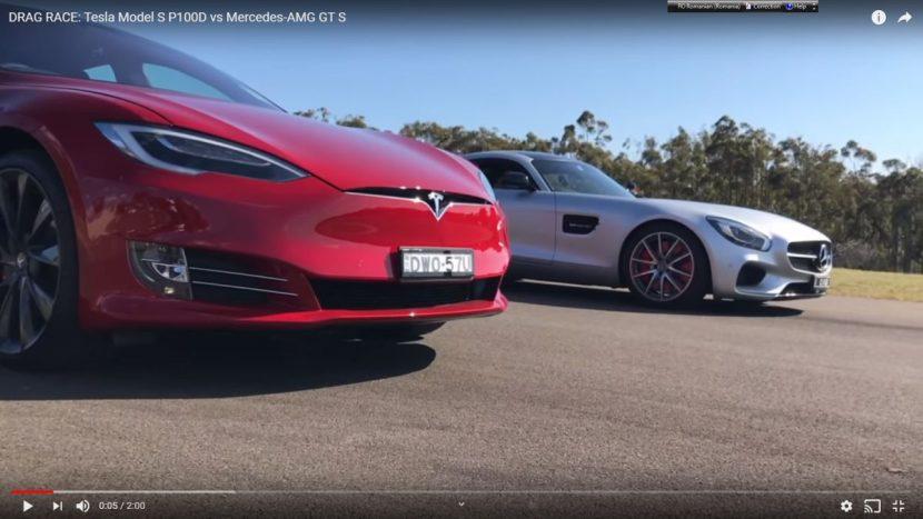 Tesla Model X vs Mercedes-AMG GT S drag race