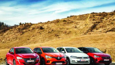Supertest comparativ: Opel Corsa, Peugeot 208, Renault Clio, VW Polo