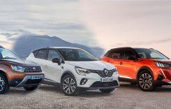 Dacia Duster, Renault Captur, Peugeot 2008? Care este mai spațios?