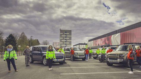 Mașinile de presă Land Rover trimise la Crucea Roșie Britanică pentru lupta împotriva coronavirus