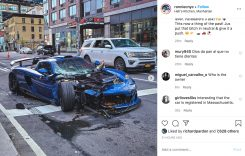 VIDEO: Un exemplar rar Porsche Carrera GT tunat de Gemballa a fost distrus pe străzile din New York