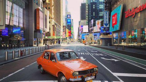 Ce caută un autoturism DACIA 1300, pe străzile pustii din New York (FOTO)