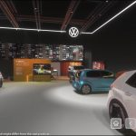 Volkswagen își expune modelele noi în cadrul unui stand virtual inspirat de saloanele auto
