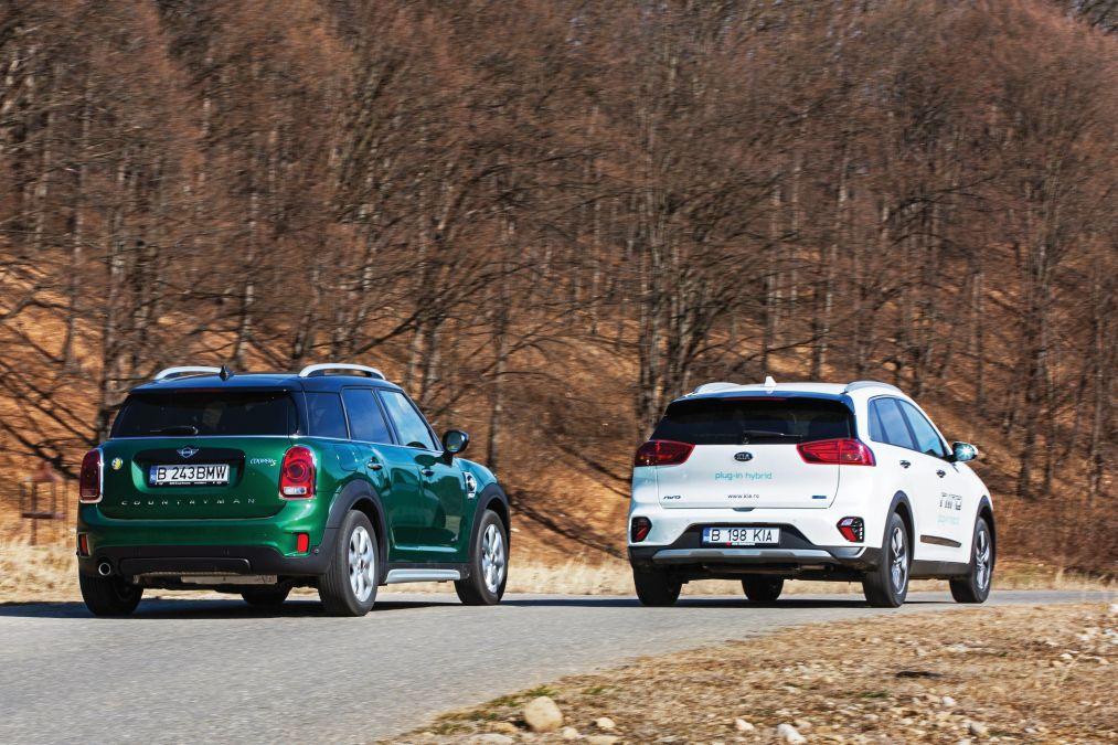 test comparativ Kia Niro PHEV vs Mini Countryman S E All4 2020