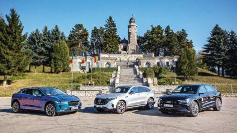 Test comparativ Mercedes EQC, Audi e-tron, Jaguar I-Pace
