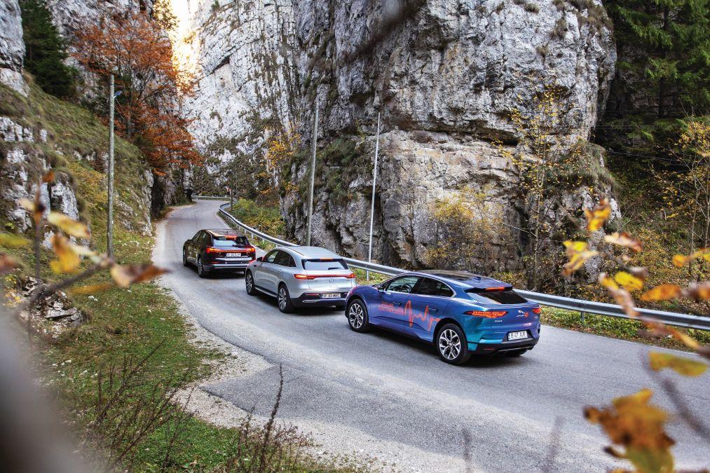test comparativ Mercedes EQC, Audi e-tron, Jaguar I-Pace (5)