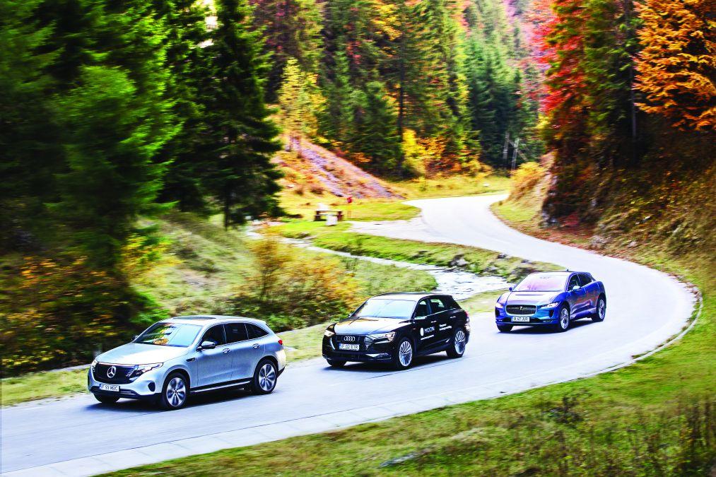 test comparativ Mercedes EQC, Audi e-tron, Jaguar I-Pace (6)