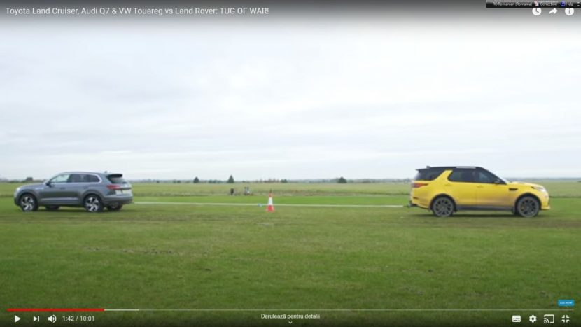 test de tractare Land Rover Discovery