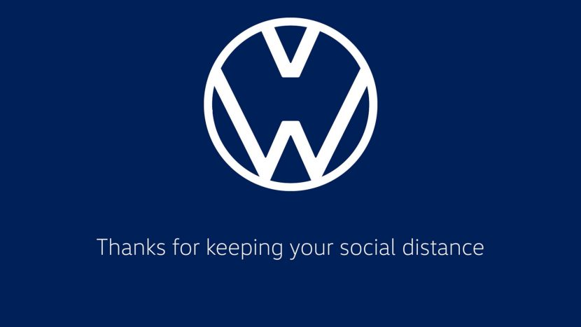 """""""We are Volkswagen - Thanks for keeping your social distance"""""""