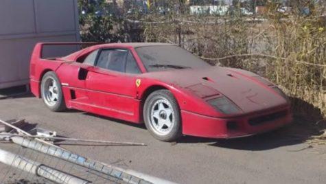 Un Ferrari F40 deținut de fiului lui Saddam Hussein a fost găsit abandonat în Irak