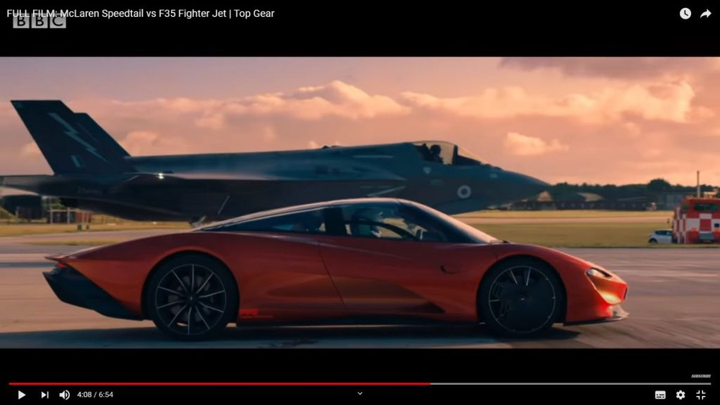 Mclaren Speedtail vs F-35 Lighting