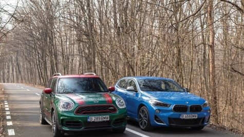 Test BMW X2 M35i vs Mini Countryman JCW: Inimă zburdalnică