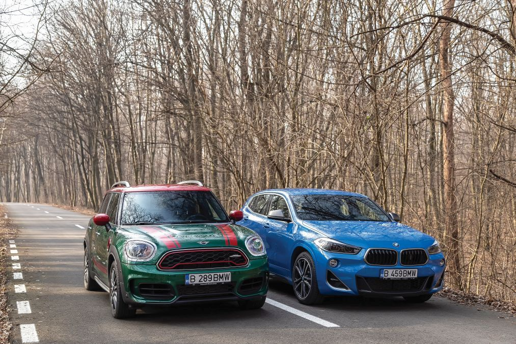 test comparativ BMW X2 M35i vs Mini Countryman JCW