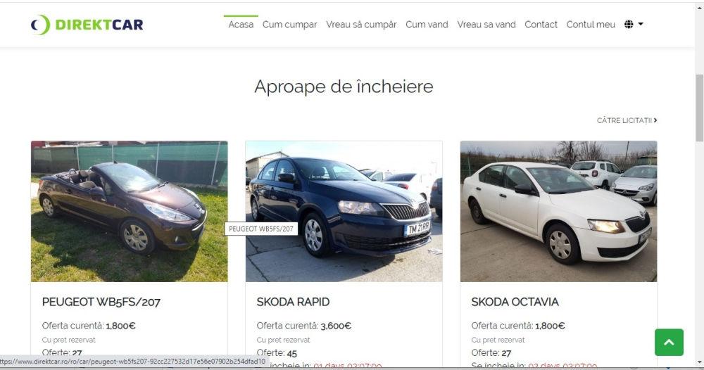 tranzacționarea automobilelor la comandă)