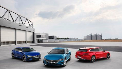 Volkswagen Arteon facelift: Shooting Brake și versiune performantă de 320 CP