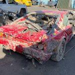 Ferrari Mondial găsit într-un canal în Amsterdam după 26 ani