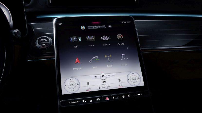 Mercedes S-Class W223 MBUX system 2020